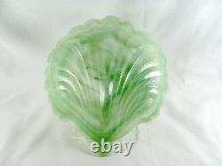 10 Murano Style Opalescent Glass Shell Bowls, 7-3/4, iridescent, slag, dish