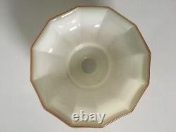 1930s Italian Art Deco Opaline Off White Glass Ceiling Lamp Shade Light Vintage