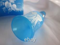 19th Century Moser Blue Opaline H. P. Stork Barber Bottle