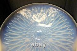 Antique French Vaseline Opaline Pressed Glass Art Deco Bowl