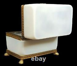 Antique Opaline Glass Trinket Box/Casket Bulle de Savon