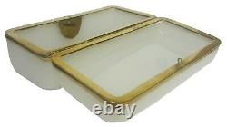 Antique White French Opaline Glass Box/Casket France, 19th C