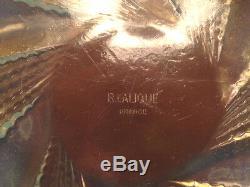 Beautiful opalescent R. LALIQUE bowl Fleurons NR 2 1935 coupe