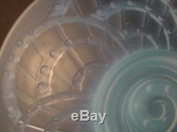 Cristal de Sevres J Landier Sculptured Glass Opalescent Arches Bowl Art Deco 25