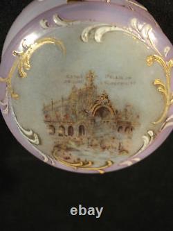 FRENCH OPALINE ART GLASS TRINKET BOX, PARIS EXPOSITION, c. 1900