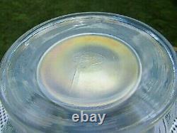 Fenton 1990's French Opalescent Iridized Glass Atlantis Koi Fish Vase 6.5H