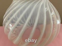 Fenton Art Glass Opalescent Swirl Globe Form Lamp Shade EC BEAUTIFUL