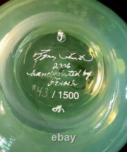 Fenton Hand Painted French Opalescent Cased With Fern Green Candy Dish LIMITED