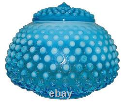 Fenton Hobnail Blue Opalescent #389 5 Covered Jar / Candy Extremely RARE