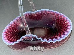 Fenton-Large PLum Opalescent Basket-12.5 X 9-A Beauty-WOW-No Issues