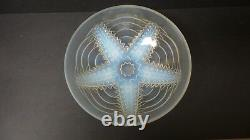 French Choisy-le Roi Art Glass 9.25 Opalescent Star Fish Bowl, c. 1930