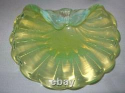 Heavenly MURANO Mind Blowing OPALESCENT Glass Bowl SHELL SCULPTURE Colors CHANGE