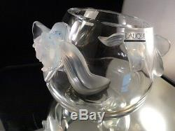 LALIQUE Crystal ORCHIDEE VASE Orchid Opalescent/Clear