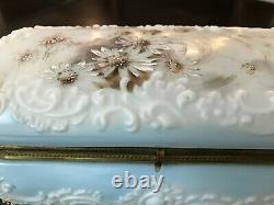Large Wave Crest Glass Dresser/Vanity Box Casket Ormolu Mounts
