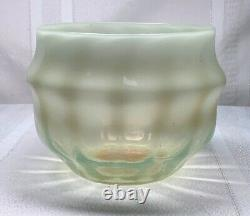 Lct Tiffany Favrile, Onyx Opalescent, Vertical Ribbing Vase, Nice Unique Form