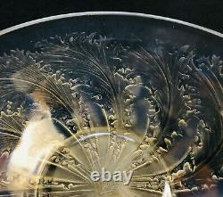 R LALIQUE -CHICOREE- FROSTED & OPALESCENT GLASS CENTREPIECE BOWL DISH VDA No 321