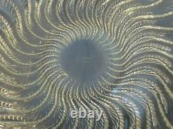 R Lalique Opalescent 10 Inch Actinia Crystal Bowl
