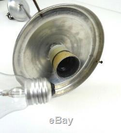 Rare Original German Bauhaus Streamline Ceiling Lamp Opaline Glass Art Deco 1925