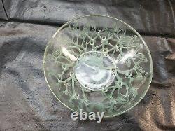 Rare Vintage Rene Lalique France Gui Mistletoe Opalescent Bowl 9