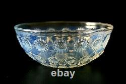 Rene Lalique Aster No. 5 Opalescent Glass Bowl