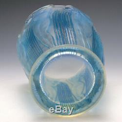 Rene Lalique Blue Stain Opalescent Danaides Vase Marcilhac 972