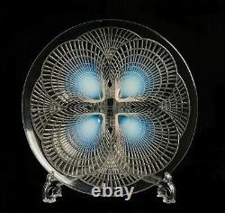 Rene Lalique Glass Coquilles Pattern Opalescent Plate Art Deco c1924 Nr 3011