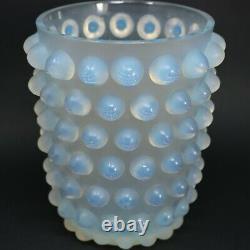 Rene Lalique Opalescent Glass Mossi Vase