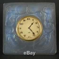 René Lalique Opalescent Glass'Naiades' Clock