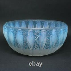 Rene Lalique Opalescent Glass'Perruches' Bowl