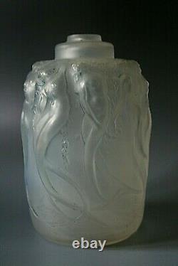 Rene Lalique Sirenes Opalescent Glass Perfume Burner