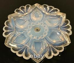 SABINO Glass Opalescent Antique Pendant Light Ceiling Plate Flower Shape