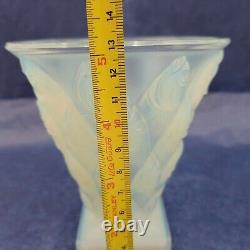 SABINO Paris Fish Poissons Art Opalescent Glass Vase see video