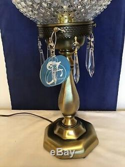 Vintage Fenton Art Glass French Opalescent Hobnail Lamp