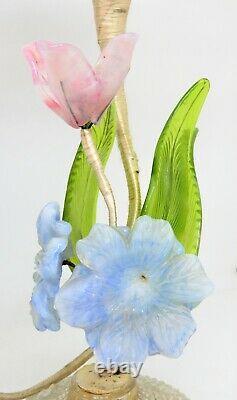 Vintage Italian Murano Venetian art glass 1960's flower lamp