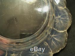 Vintage Lalique Crystal HONFLEURS Opalescent Art Glass Bowl