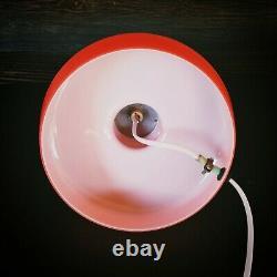 1960' Verre Vintage Retro Orange Rouge Opaline Lampe Pop Art Magic Mushroom