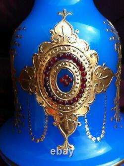Antique Bohème Opalines Vase / Base Hookah Qajar