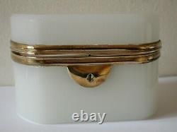 Antique Victorian White Opaline Français Trinket Box Casket Palais Royal Jewelry