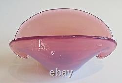C1950 De Venise, Murano, Archimede Seguso Opalescent Clam Shell Double Based Bowl