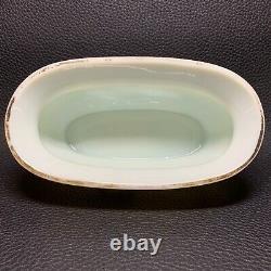 Circa 1880 Marqué Bohemian Vaseline Harrach Bowl Vase Gilt Émail Oiseaux - Flore