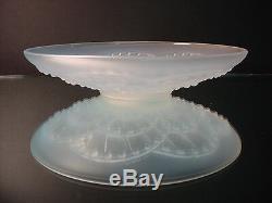 Cristal De Sèvres J Landier Sculpté En Verre Opalescent Arches Bowl Art Déco 25