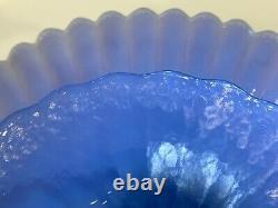 Effetre Murano Italie Verre Opalescent Bleu 12.5 Cake Stand Dish