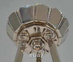 Ezan Ejg J. Gauthier Art Opalescent Français Deco Chandelier. 1930 1935 Lustre