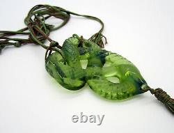 Fabuleux Grand Serpent Serpent Serpent Sauveur Faire Collier Vert Opalescent
