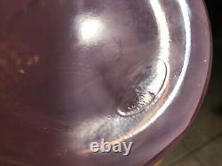 Fenton 10.5 Double Vase Broyé Hobinail Champagne Rose Irisée Opalescent