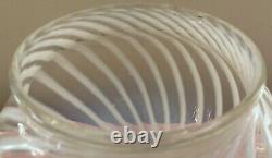 Fenton Art Verre Opalescent Swirl Globe Forme Lampe Shade Ec Beautiful