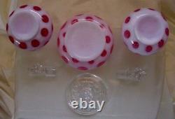 Fenton Glass40smintvintagecranberryopalescentcoin Dotperfume / Poudre / Vanity