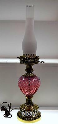 Fenton Lamp Cranberry Opalescent 26 Vintage Gwt Free Navire Lower48