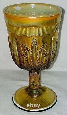 Fenton Levay Aqua Opalescent Carnivalcactus 7 Pc Pitcher-goblet Set