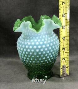 Fenton Vert Opalescent Hobnail 6 Vase 1938-1942 Super Rare
